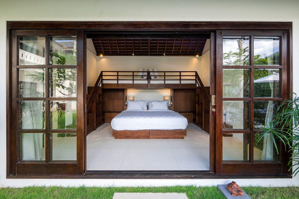 Bedroom with bunkbeds - Villa Tjitrap